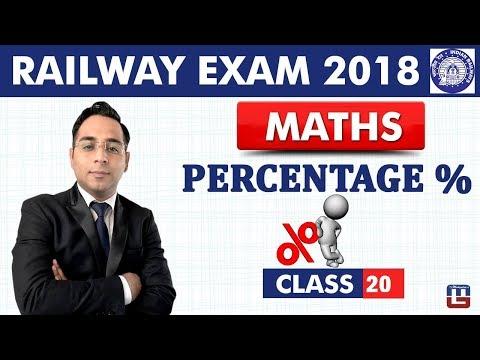 Percentage %   Maths   Class - 20   RRB   Railway ALP / Group D   Live At 9 PM