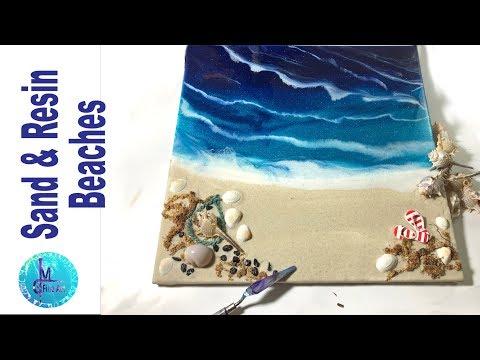 SAND & RESIN Beach scene tutorial, Step by step, how to make resin beaches  - AGAIN :D -