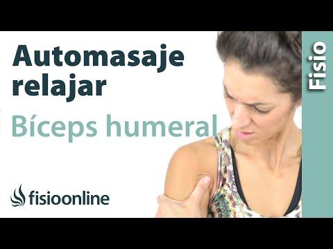 Automasaje de bíceps humeral - Relajar parte anterior del brazo