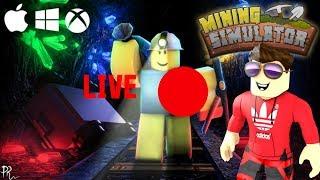 *BIG* ROBUX GIVEAWAYS!!! * NUEVA ACTUALIZACION * Simulador de Minería EN VIVO! w/Fans! (Roblox)