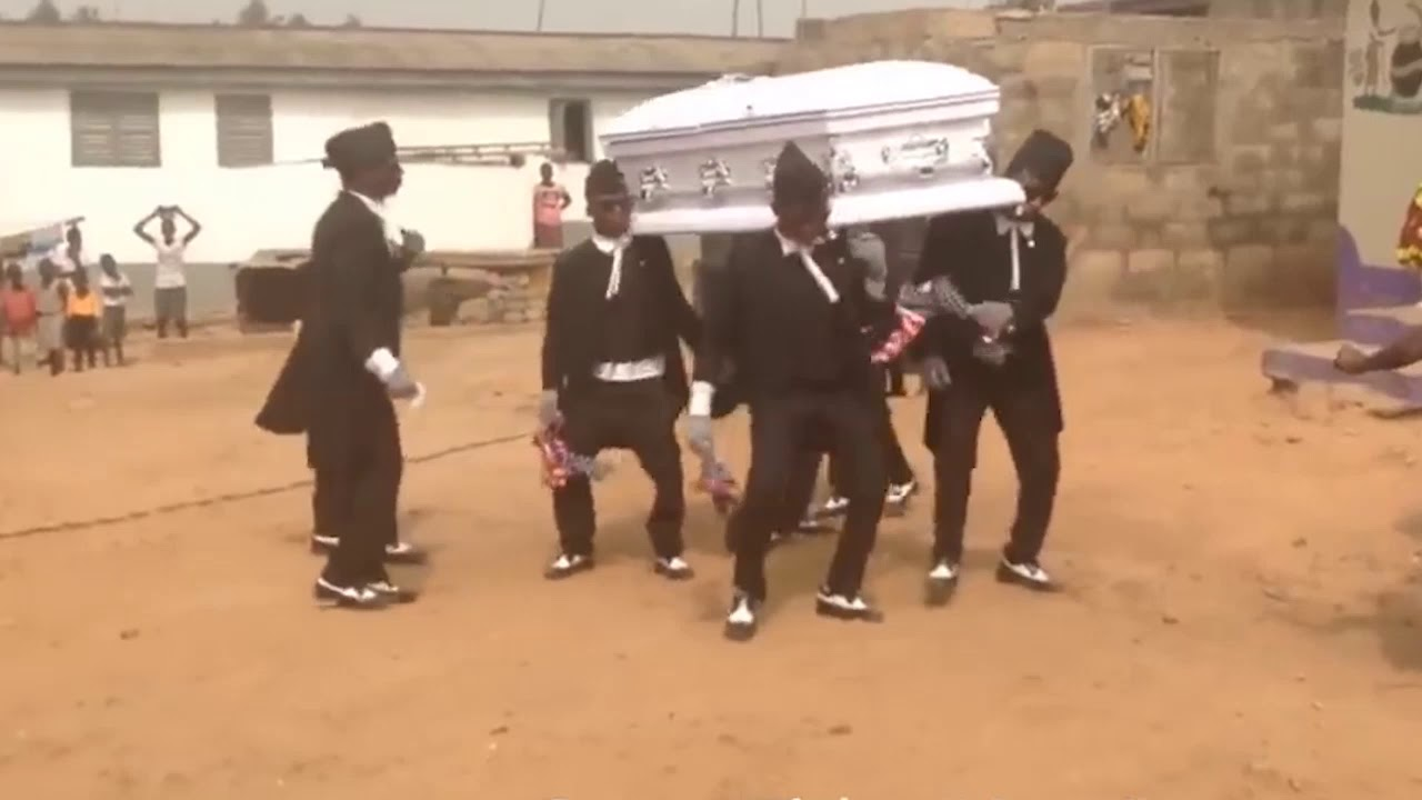 El meme baile del ataud  ( Ritmo colombiano)... Coffin Dance