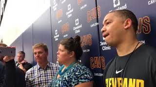 Cavs coach tyronn lue says lebron james (ankle) participated in one-quarter of practice