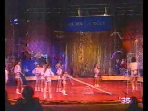 Circus women acrobatics group Акробаты с подкидной доской