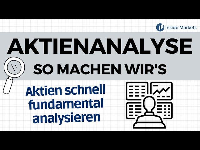 Mit diesen Methoden analysieren wir unsere Aktien