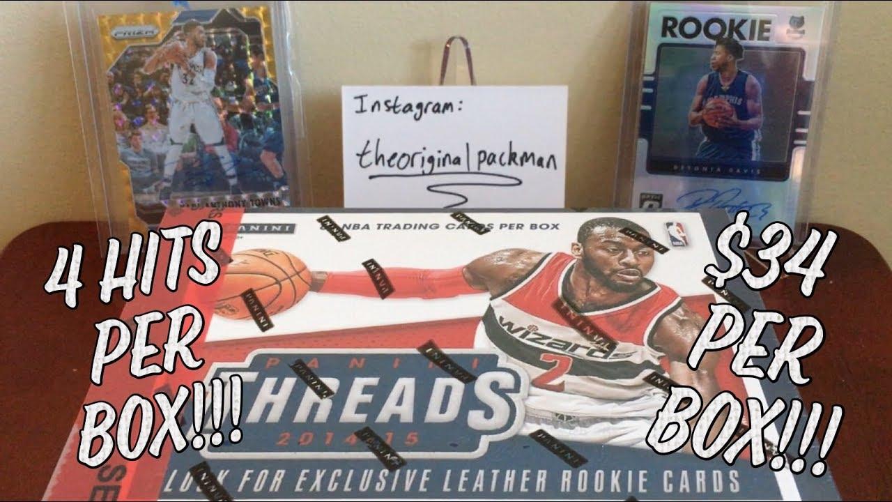 2014-15 Panini Threads Basketball Hobby Box Break - 4 Hits Per Box ... 5cd923b05
