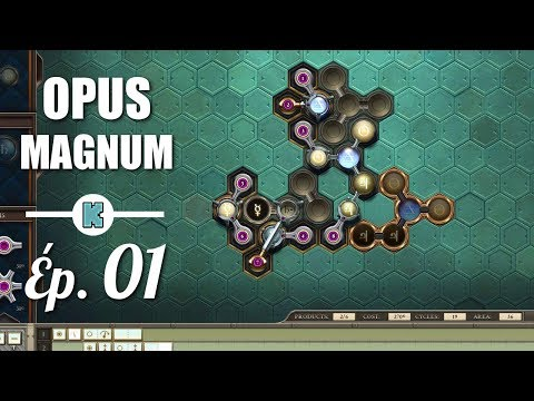 [FR] OPUS MAGNUM gameplay - ép 1 - Chaine de production alchimique !