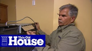 How to Install a Microwave Hood with Exhaust Fan | This Old House