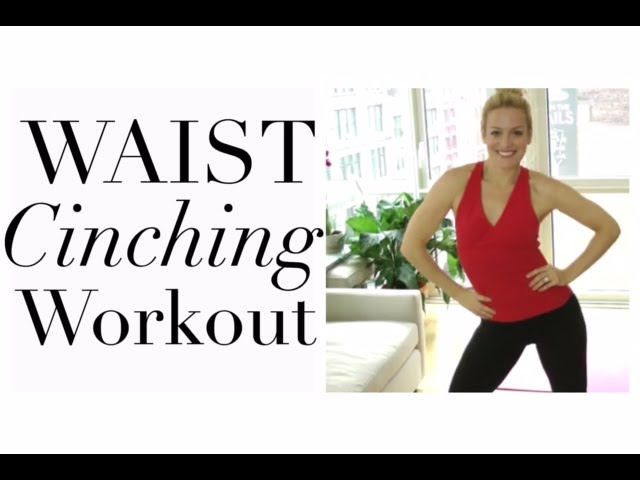 Waist Cinching Workout Waist Training Workout To Lose Inches Off Waist Youtube