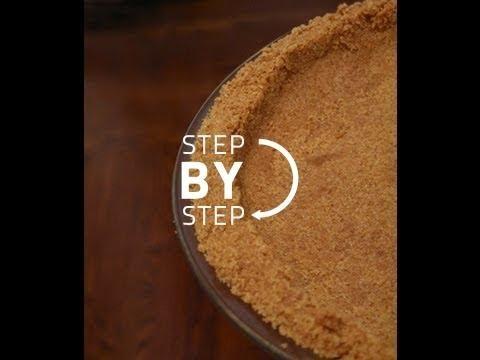 Graham Cracker Crust - How to Make Graham Cracker Pie Crust, Graham Cracker Crust Recipe
