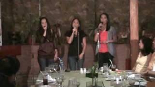 Ronna, Wendy and Nina Singing 'Saan Ka Man Naroroon'