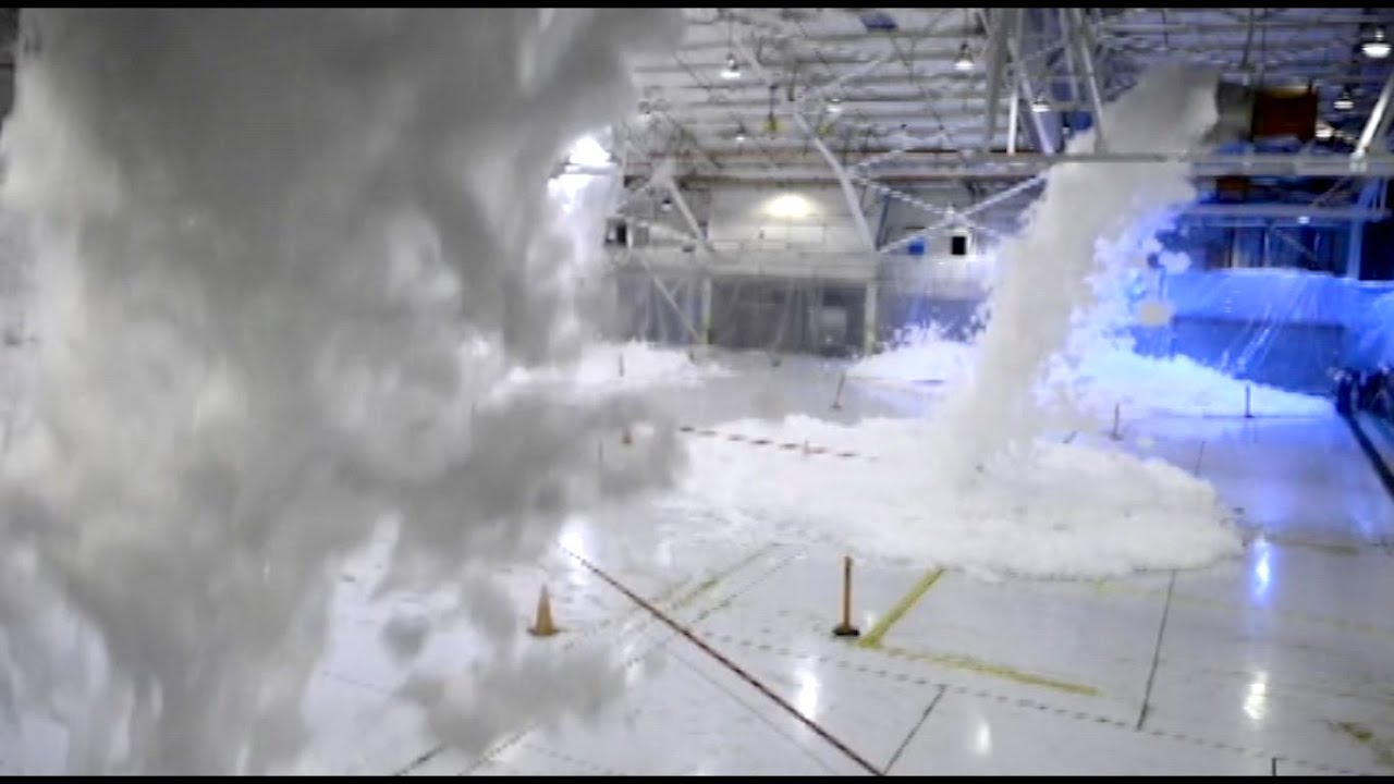 Usaf Hangar Fire Foam Suppression System Youtube