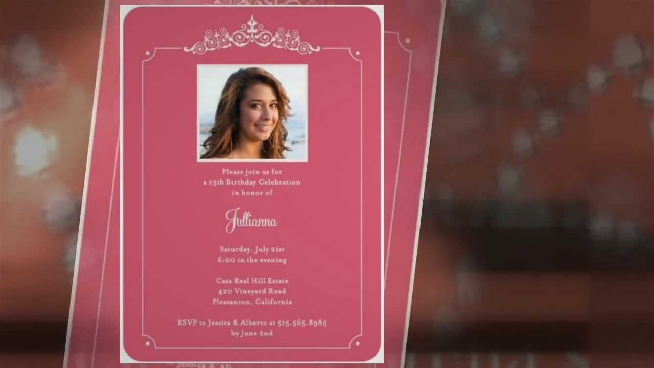 Quinceanera Invitations Cute Creative Cards For Cheap