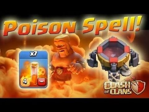 Clash Of Clans -The Correct way to use poison spell