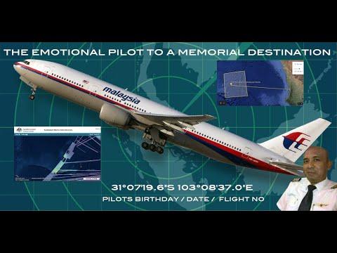 """Malaysian Flight MH370 - The Emotional Pilot To A Memorial Destination - 31°07'19.6""""S 103°08'37.0""""E"""