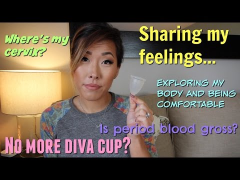 I TRIED THE LUNETTE MENSTRUAL CUP *WARNING REAL BLOOD* | ITSJUSTKELLI