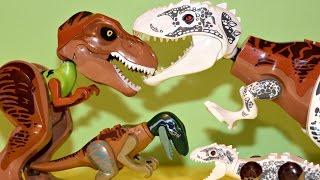 Hybrid Dinosaur Toys  - Lego Jurassic World Mutant Dinosaurs - Indominus Rex, T Rex
