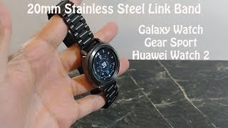 Samsung Gear Sport Metal milanese loop and stainless steel link bands for 20mm Style Watches