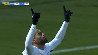 Lucas Moura FIRST start and FIRST GOAL for Tottenham Hotspur