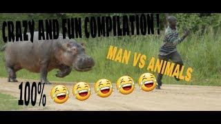 RUN MEME COMPILATION !!!! (MAN VS ANIMALS) 100% 😂😂😂