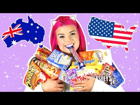AUSTRALIAN TRIES AMERICAN CANDY!
