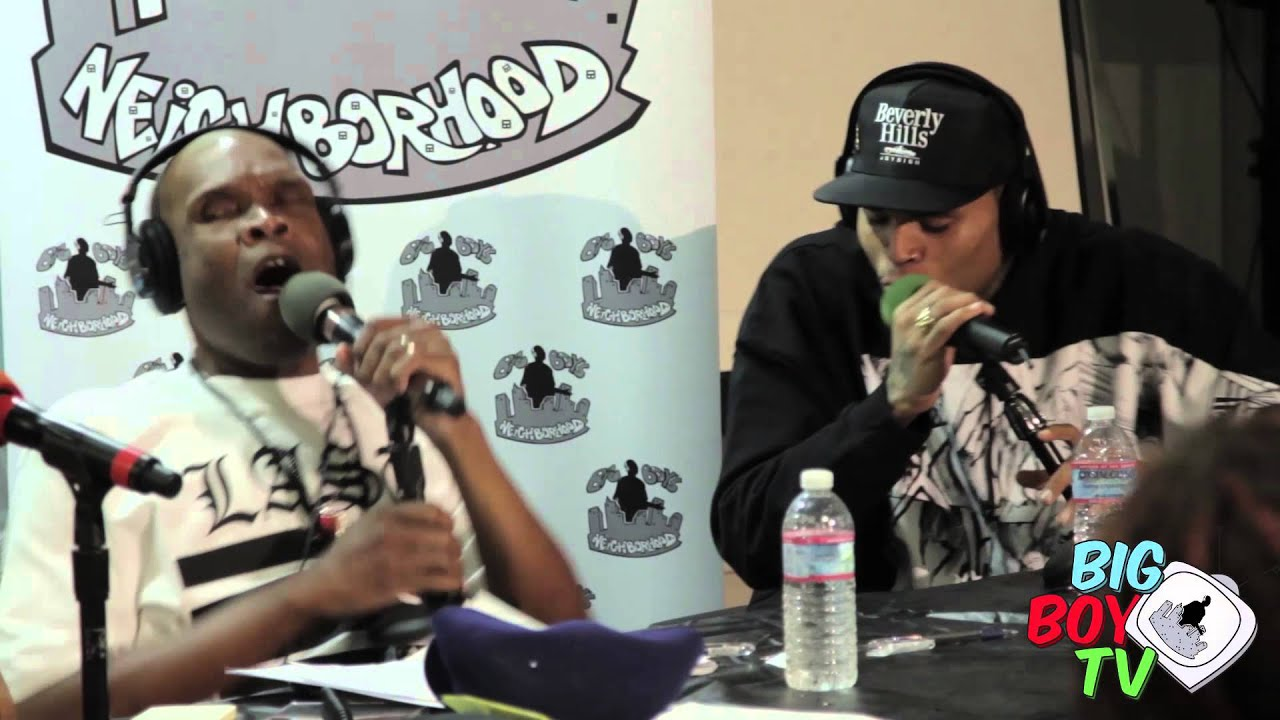 """Download Chris Brown and Big Boy Bust a Freestyle """"All Up in There""""  BigBoyTV"""