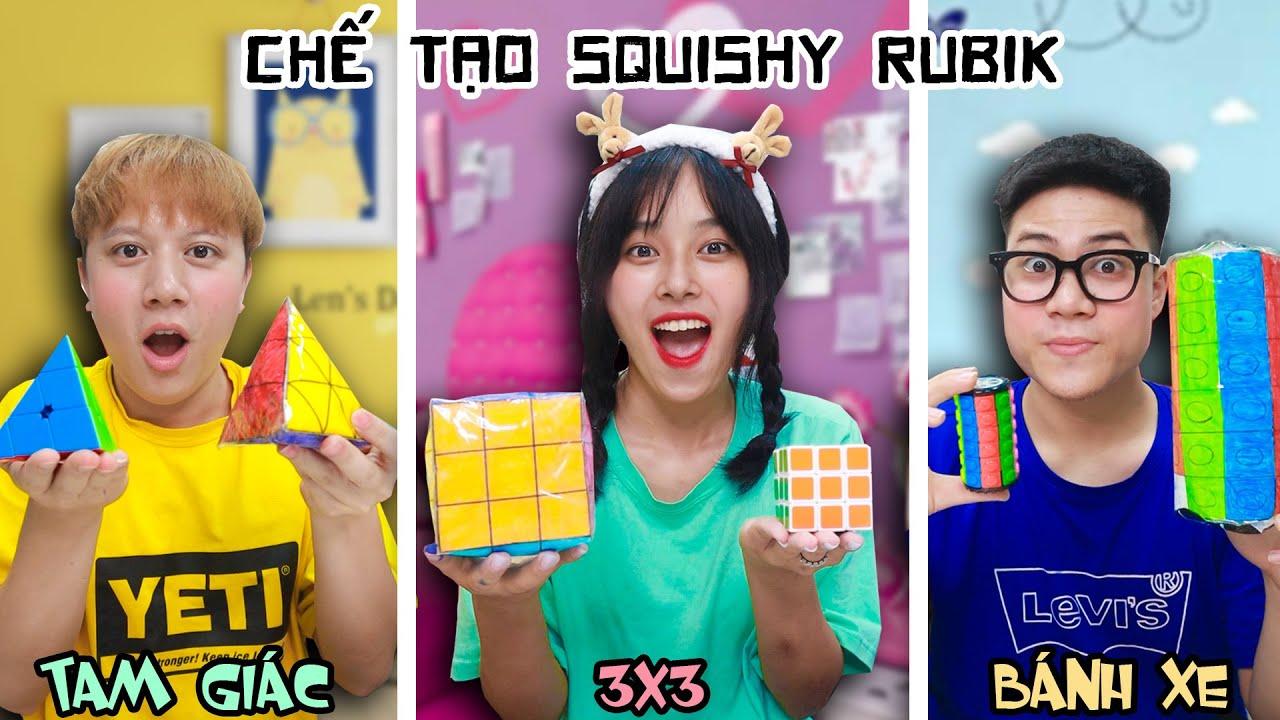 Thử Thách Chế Tạo Squishy Rubik 3x3, Tam Giác, Bánh Xe