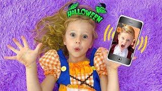 Nastya dan ayah akan pergi ke pesta Halloween