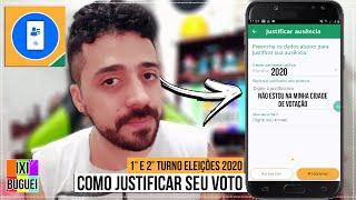 Como Justificar Voto 2020 Online Pelo Celular / Pela Internet ( Passo a Passo Eleições 1° 2° Turno )