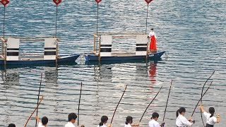 Ogi no Mato Kyudo Taikai - Japanese Archery with Fan Targets on the Water