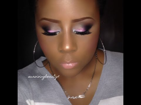 How to: Smokey look with Pinks & Glitter (bH cosmetics palette)