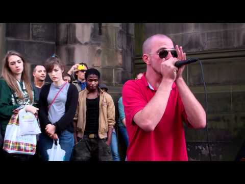 Dave Crowe Beat Boxer Royal Mile Festival Fringe Edinburgh Scotland August 21st
