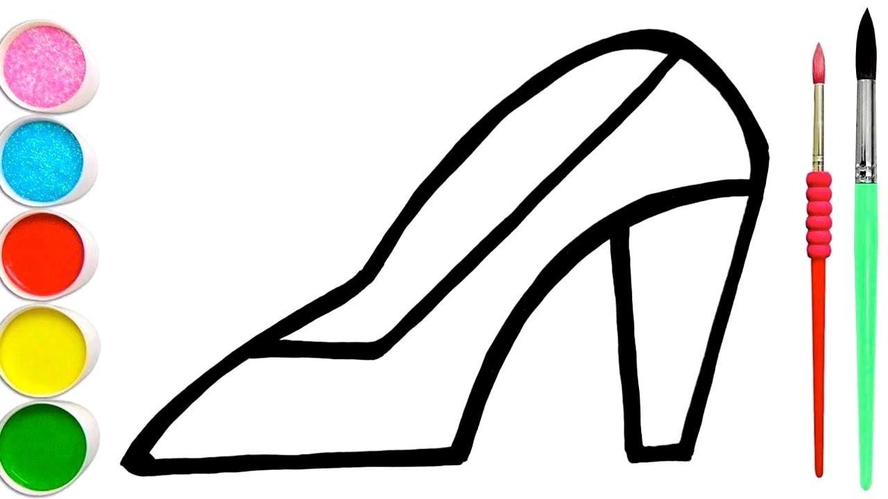 Comment Dessiner Une Belle Chaussure Pour Bebe Apprendre Les Couleurs Avec Coloriage Youtube