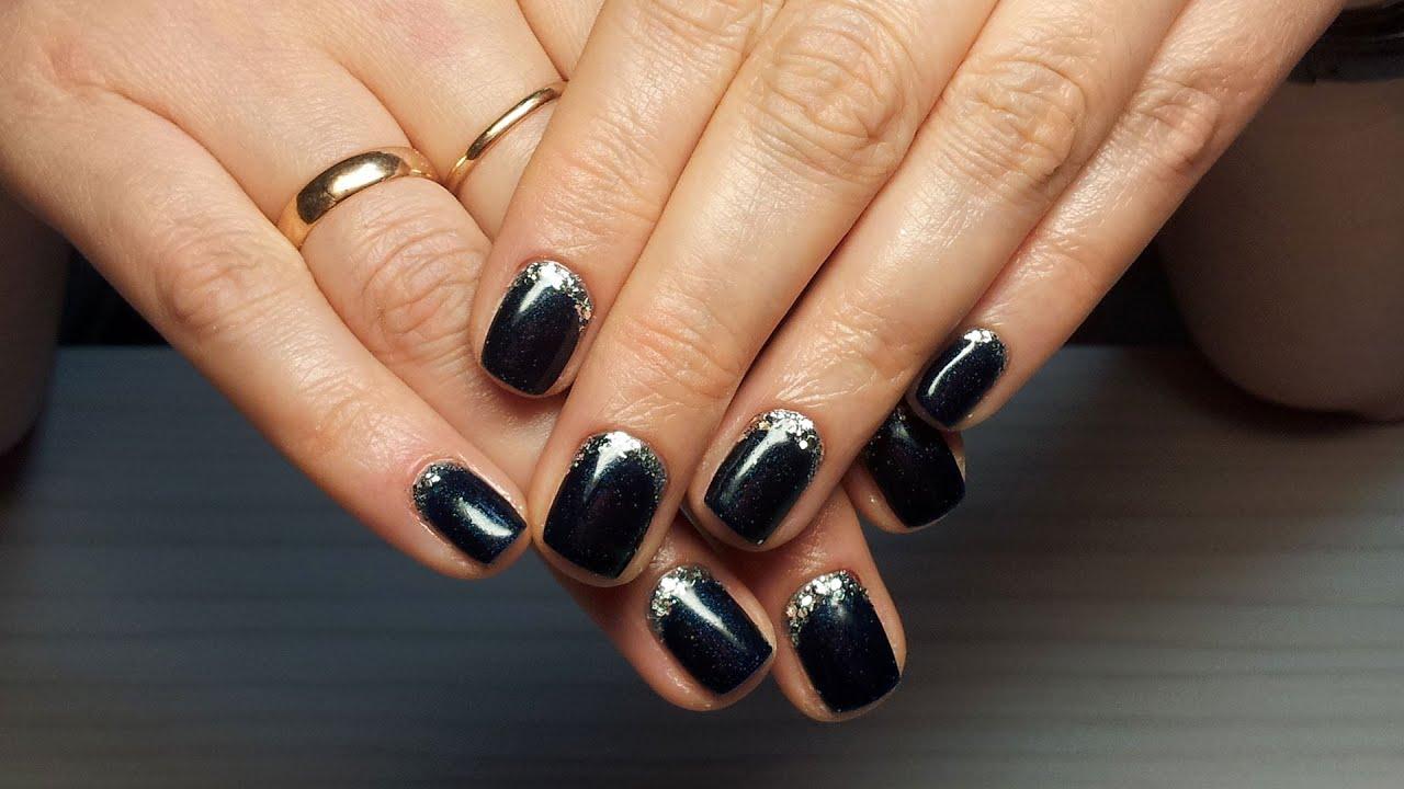 Идеи дизайна ногтей черный с золотом фото