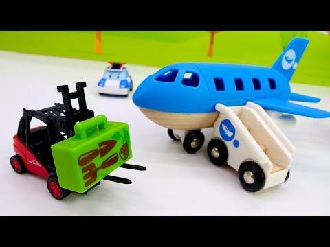 Havalimanı: Oyuncak Uçak, Tren Ve Forklift. Araba Oyunları.
