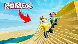 WE ESCAPE THE DANGEROUS DESERT!! EGYPT OBBY PARKOUR ROBLOX 💙💚💛 BE BE BE MILO VITA AND ADRI 😍 AMIWITOS