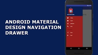 ANDROID MATERIAL DESIGN NAVIGATION DRAWER LAYOUT (Full Tutorial)