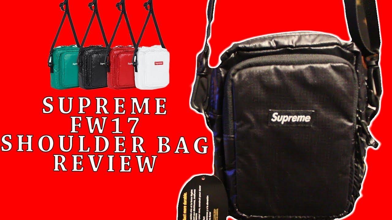 Supreme FW17 Shoulder Bag Review - YouTube