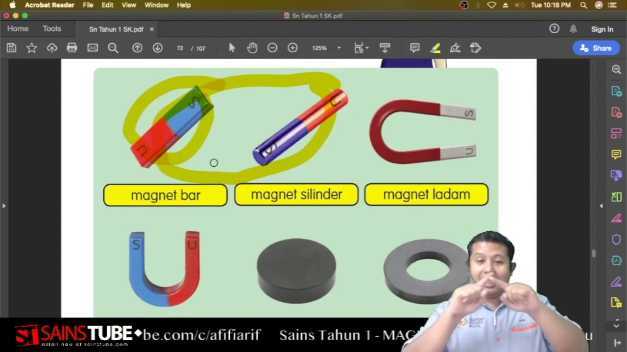 Sains Tahun 1 Unit 7 Magnet Cikgootube Sainstube Youtube