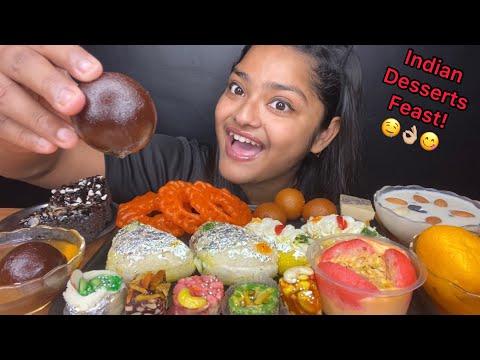 INDIAN DESSERTS EATING