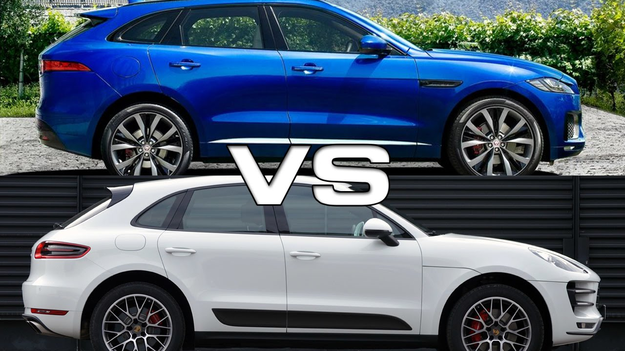 2017 jaguar f pace vs 2015 porsche macan s youtube. Black Bedroom Furniture Sets. Home Design Ideas