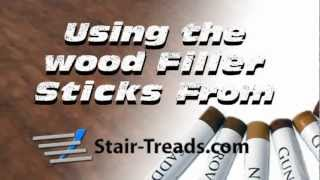 Using Touch-up Sticks On Prefinished Stair Treads