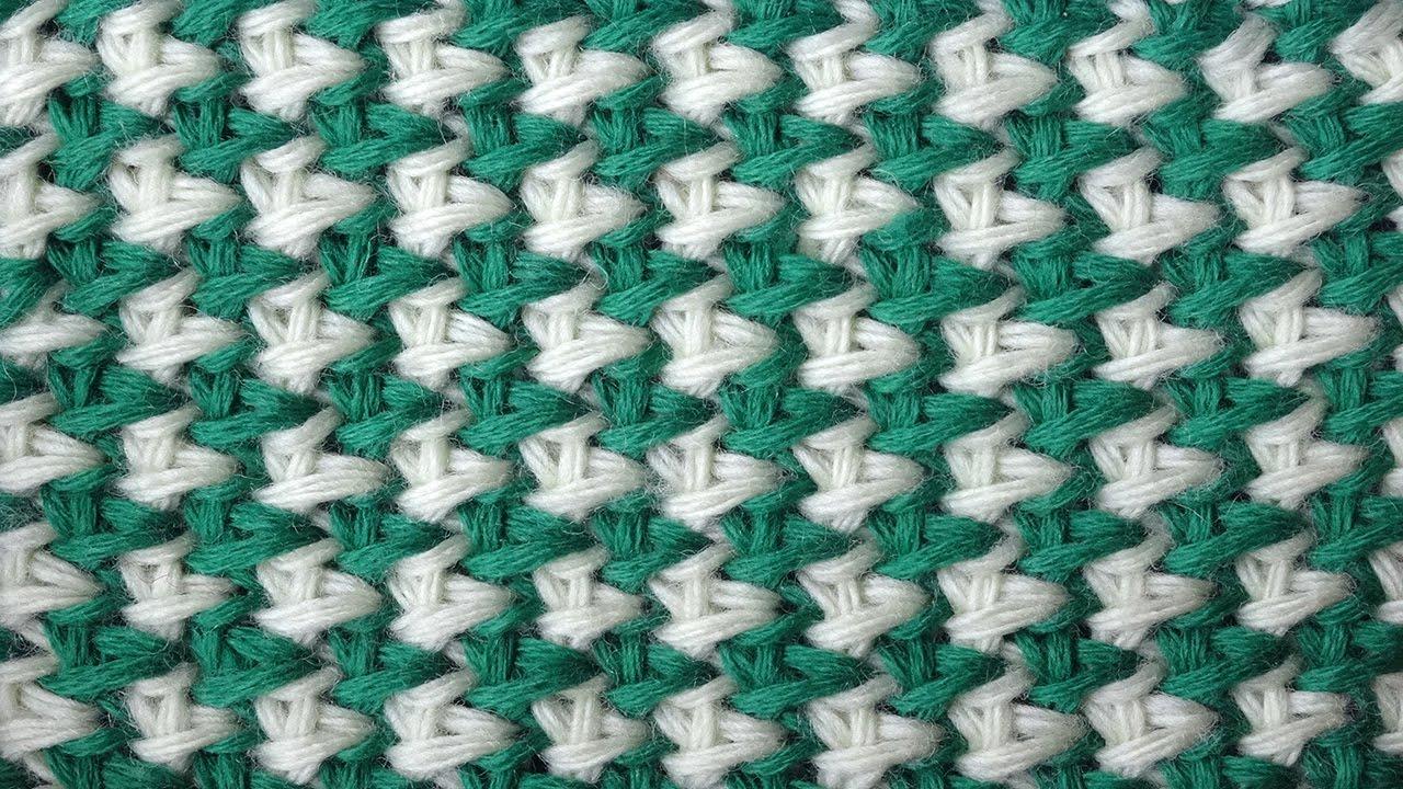 вязание двухцветных пледов и покрывал крючком схемы