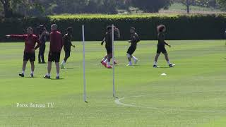 Arsenal training Europa League Final