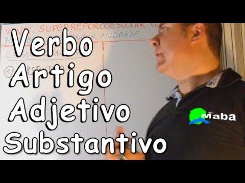 Classes Gramaticais 1- substantivo, adjetivo, verbo, artigo e pronome