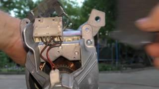 Стиральная машина Whirlpool горит СЕРВИС, замена щеток в двигателе
