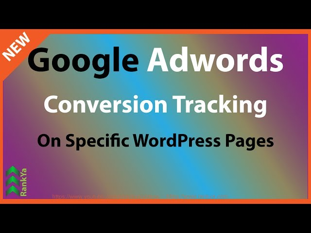 Google Adwords Conversion Tracking Code in WordPress Specific Pages Only