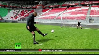 Красивый футбол от Коллимора и Харви: проект «В игре» побывал на стадионе «Казань Арена»