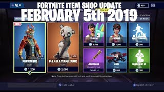 Fortnite Item Shop Update New Firewalker Skin and Wukong Back February 5th 2019 [2-5-19]