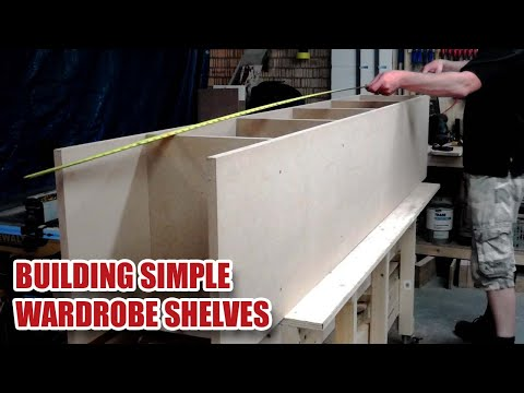 Simple MDF Wardrobe Shelving, Clothes Rail Build & Install [15]