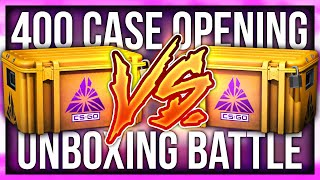 CS:GO CRAZY 400 CASE 1v1 OPENING BATTLE (ft. Victor)